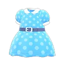 Robe cintrée à pois - Meubles Animal Crossing New Horizons